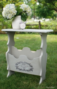 French Linen Magazine Table