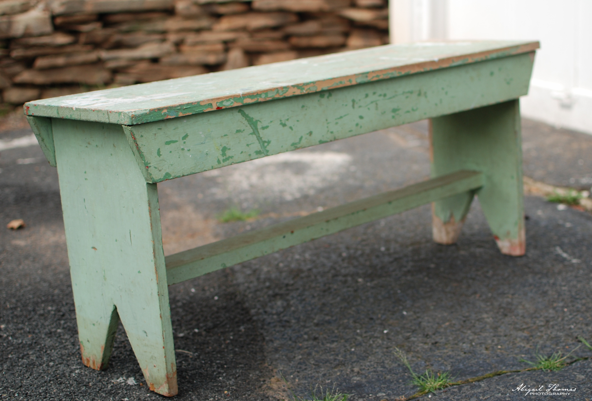 Farmhouse benches found in my basement hazel mae home for Farmhouse bench