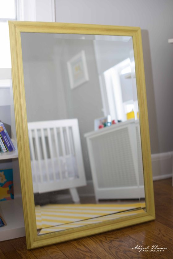 English Yellow Mirror
