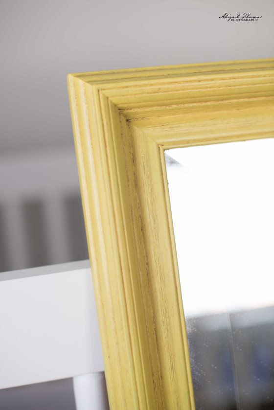 English Yellow Mirror Detail
