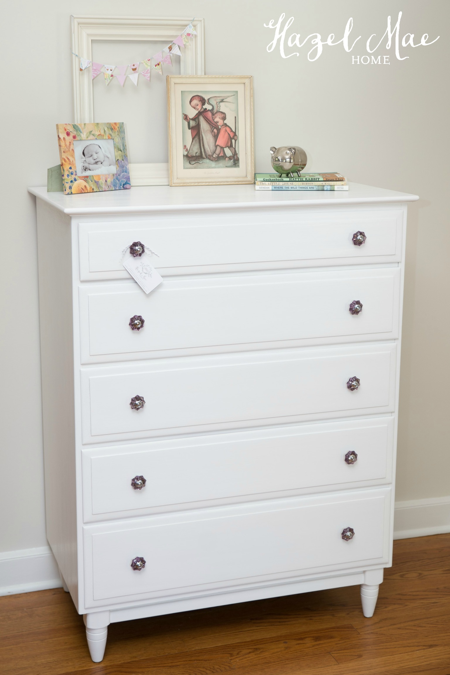 Dresser Redesigned In Pure White Hazel Mae Home