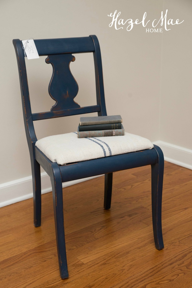 Navy Grainsack Chair