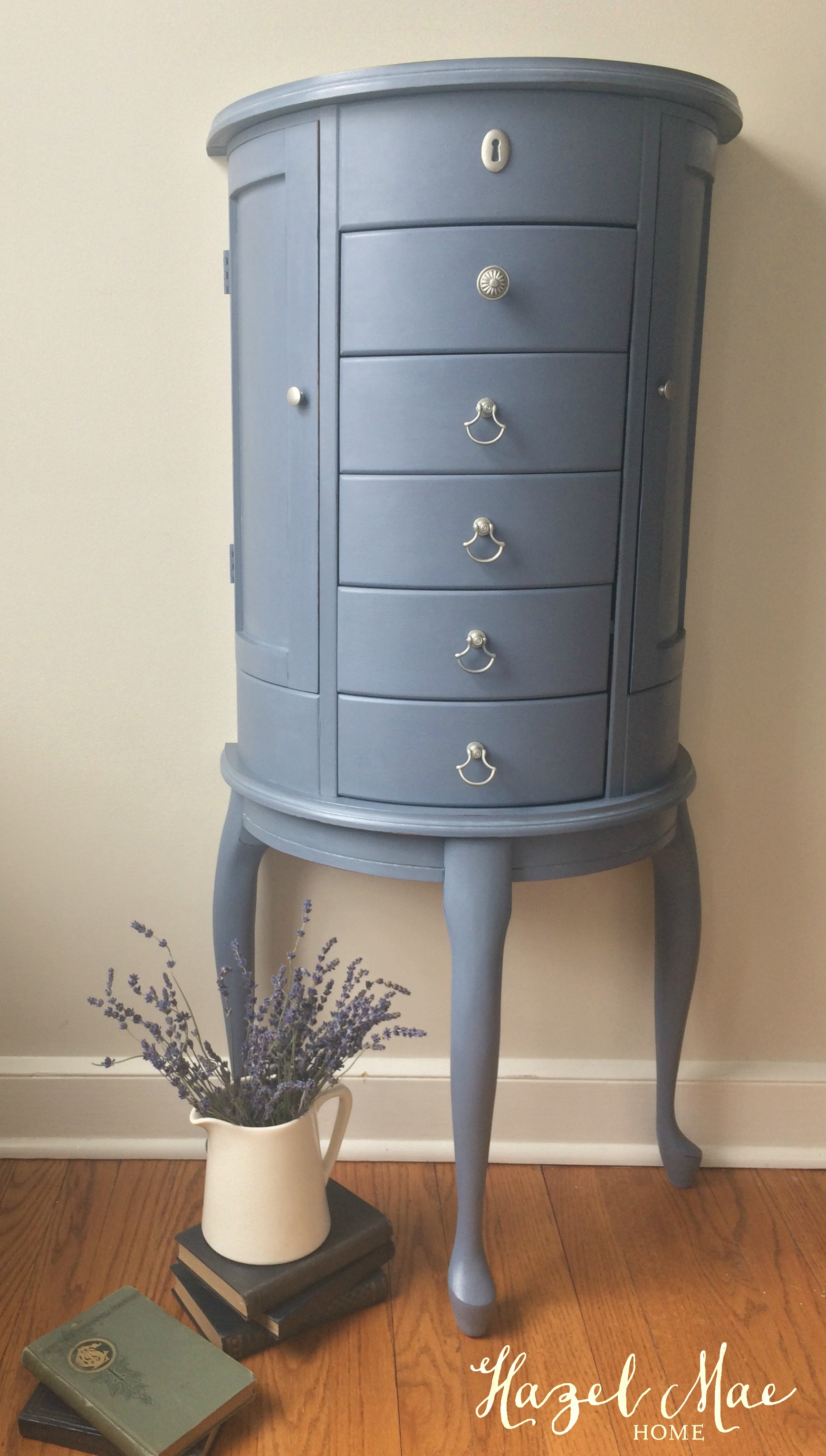 Jewelry Cabinet In Annie Sloan Old Violet Hazel Mae Home
