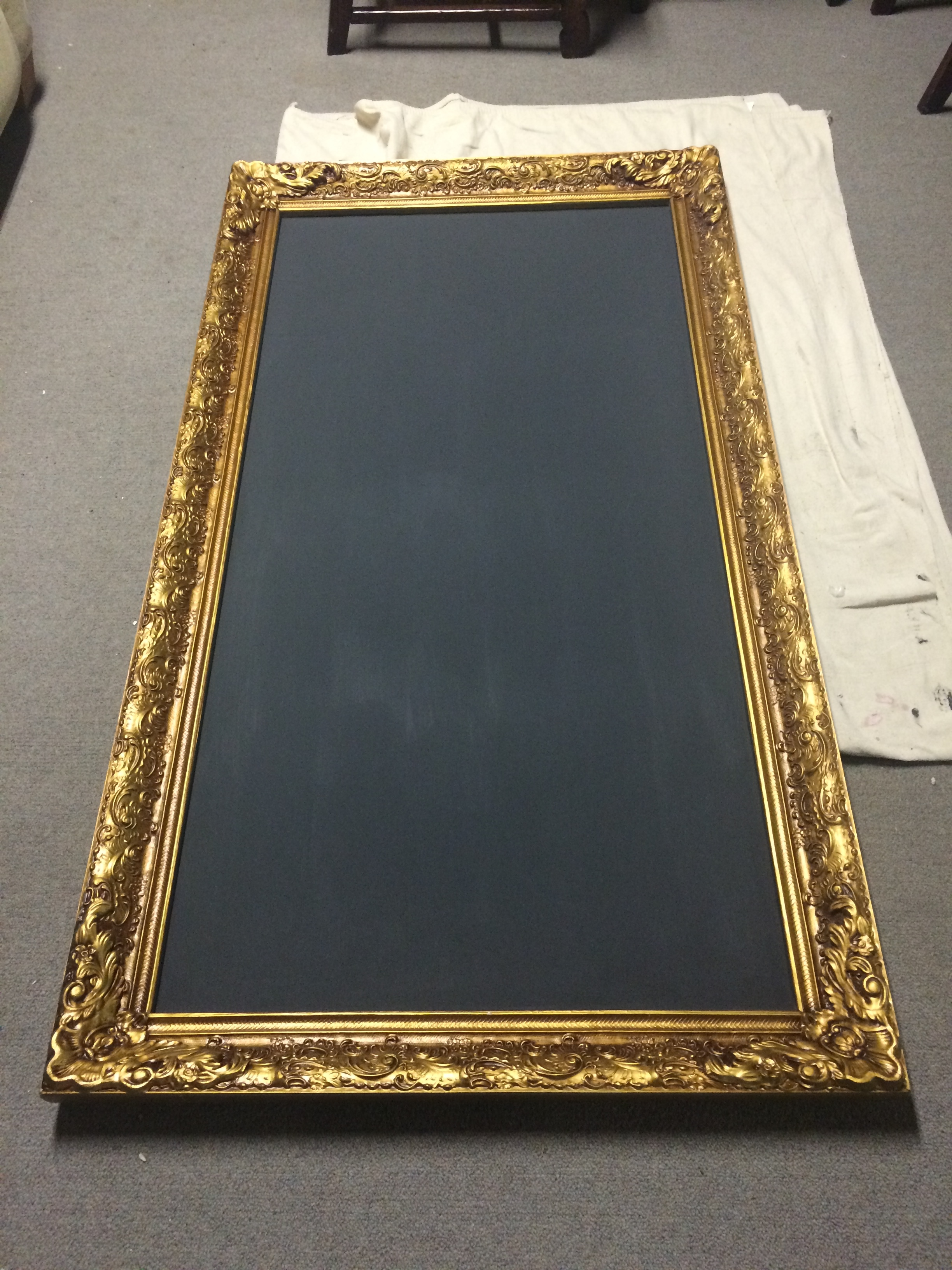 Large Vintage Frame Turned Chalkboard | Hazel Mae Home