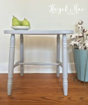 Paris Grey Vanity Bench