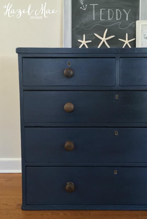 Nautical Blue Dresser For A Baby Boy